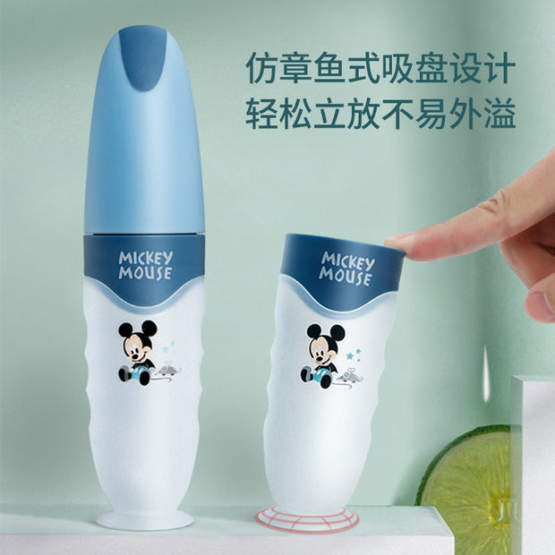Bestebaby Disney Baby Rice Paste Spoon Milk Bottle Soft Silicone Baby Food