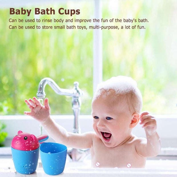 Bestebaby Kid Shower Shampoo Cup Bathing Bailer Spoon