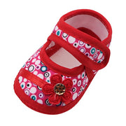 Bestebaby Printing Flower Prewalker Soft Sole Single Shoes Sneakers