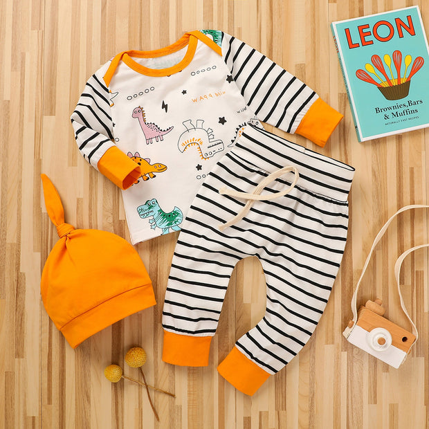 Bestebaby  Baby Clothes Set  Newborn Infant Baby Boy Dinosaur