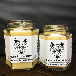 Alpha in the Alpine Hexagonal Candle Set
