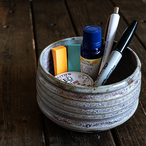 Lavender Bits Accessories Pot