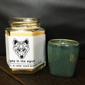 Alpha in the Alpine Small Candle Set