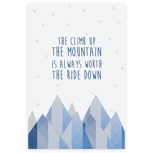 Climbing Mountains Notebook