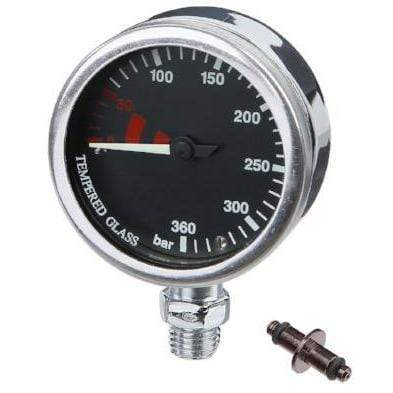 DIRZONE Single Gauge DIRZONE 52mm Naked Pressure Gauge - Chrome/Black Dial