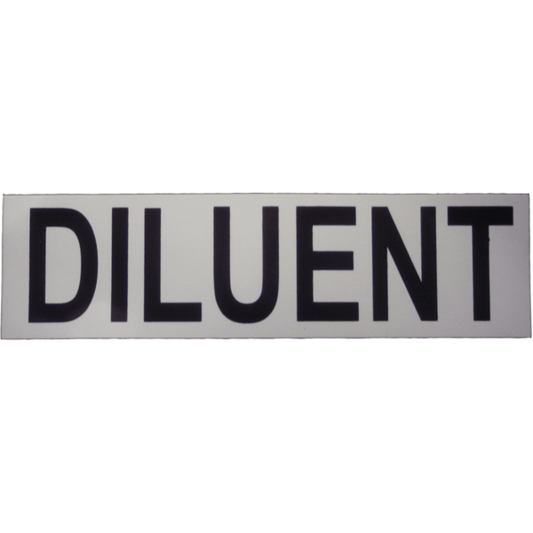 DIRZONE Sticker DIRZONE Sticker DILUENT (small 17x5 cm)