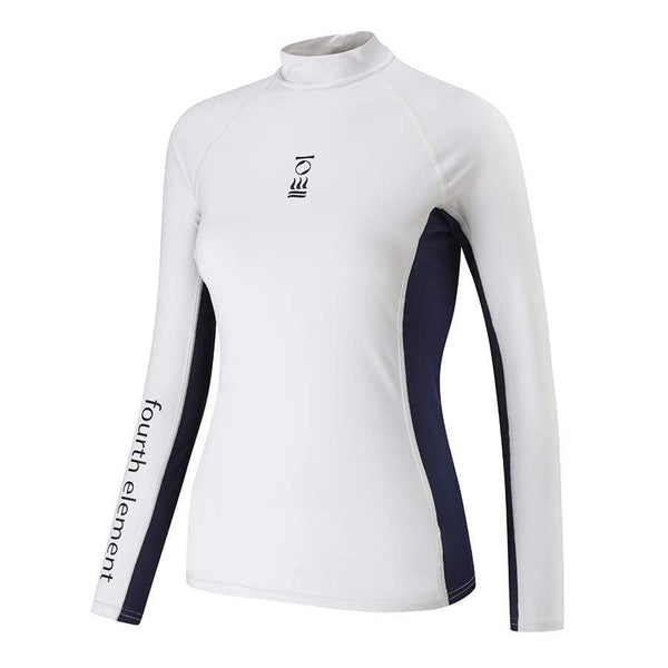 Fourth Element Rash Guard 8 Fourth Element Hydroskin Ladies L/S Top White/Blue