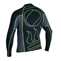 Fourth Element Rash Guard Fourth Element Hydroskin Mens L/S Top Black/Green