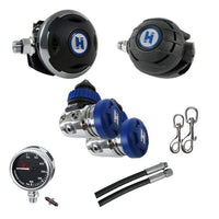 Halcyon Regulator Package Halcyon Complete Double Tank - Long Hose Regulator Set I