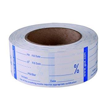 Halcyon Sticker GUE Gas Analysis Tape, Roll