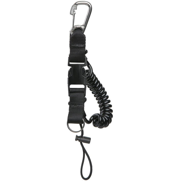 ISC Coil Black ISC Snappy Coil with Carabiner