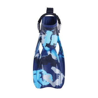 Mares Fins (Open Heel) R / Camo Blue Battle Mares Power Plana Tec Fins
