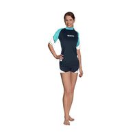 Mares Rash guard (Woman) L / AQUA Mares Rash Guard Short Sleeve Loose Fit She Dives