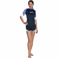 Mares Rash guard (Woman) L / LILAC Mares Rash Guard Short Sleeve Loose Fit She Dives