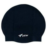 View Swim Cap Black View Silicone Pool Cap