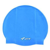 View Swim Cap Navy Blue View Silicone Pool Cap