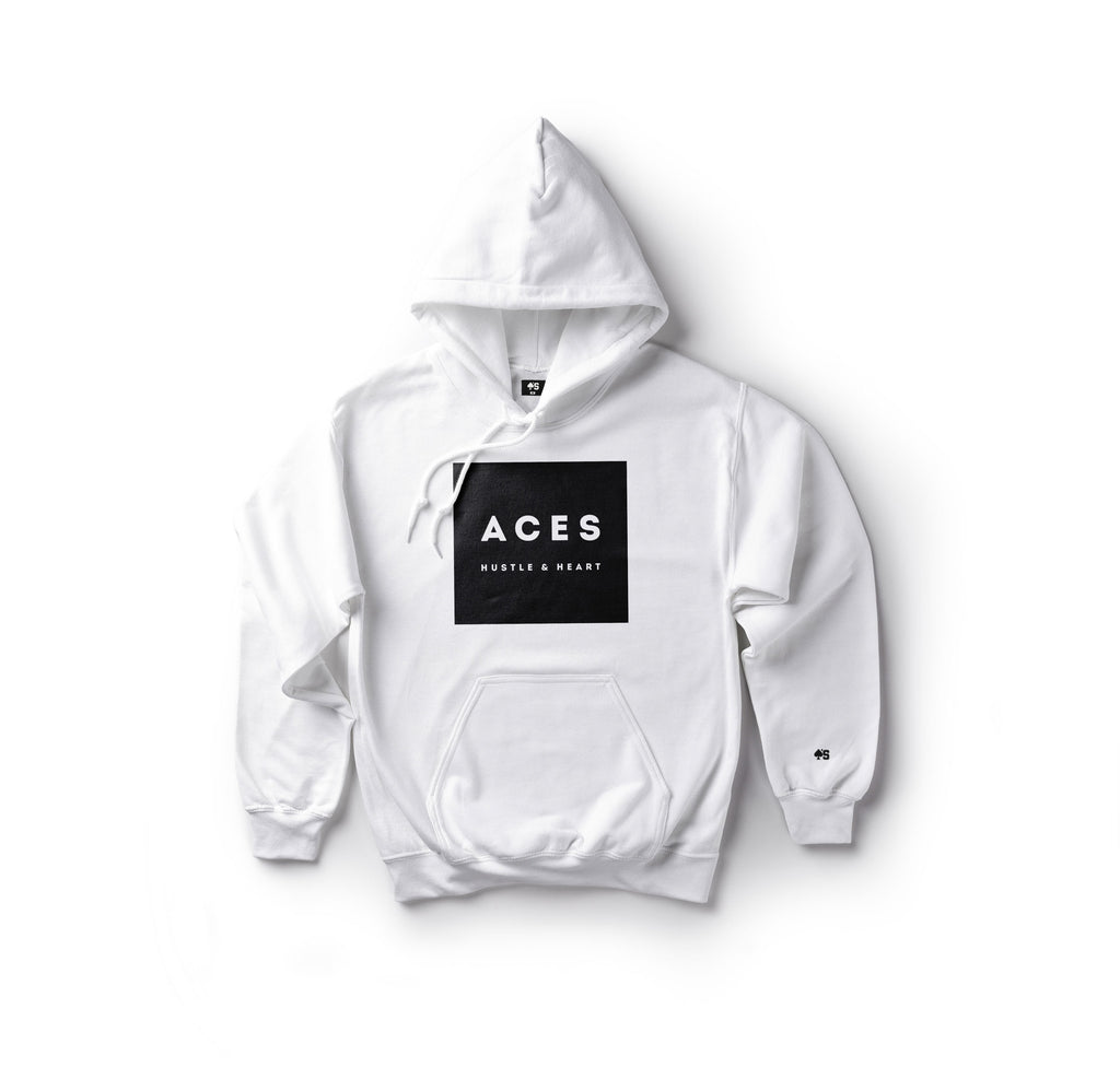 ACES Hustle & Heart Hoodie - White