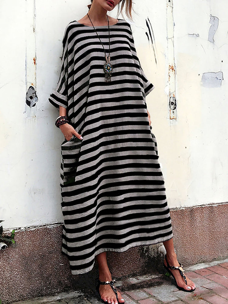 31f275d98ab9 covannova Plus Size Women Casual Dress Crew Neck Cocoon Going out ...