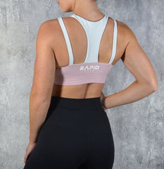 RapidWear - Ultimate Sports Bra (Rosa/Vit)