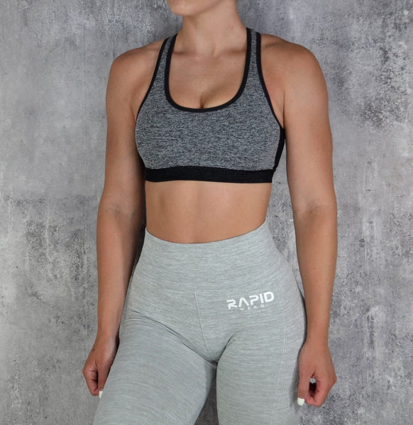 RapidWear - Empower Sports Bra (Charcoal)