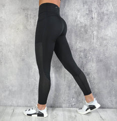 RapidWear - Mesh Panel Leggings (Svart)