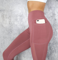 RapidWear - Power Mesh Leggings (Dusty Pink)