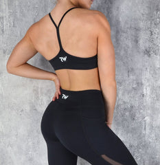 RapidWear - Power Sports Bra (Sort)