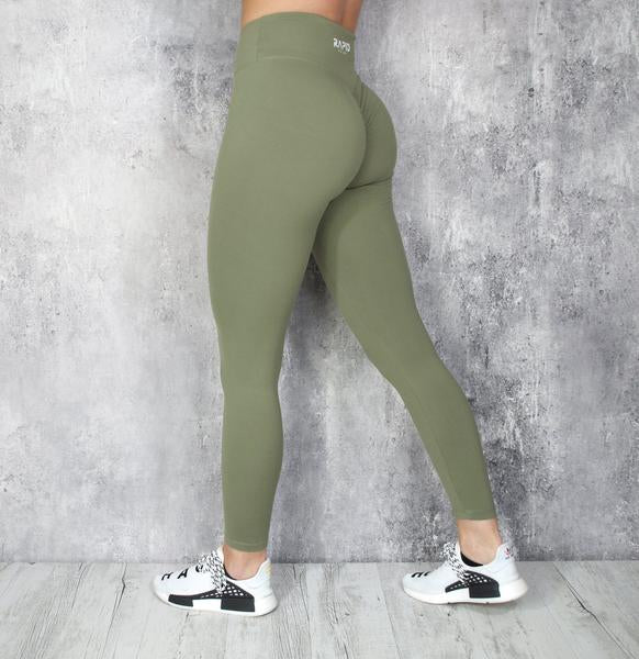 RapidWear - Scrunch+ Leggings (Khaki)
