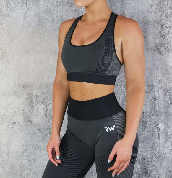 RapidWear - Seamless Force Sports Bra (Charcoal)