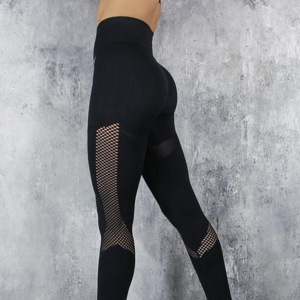 RapidWear - Seamless Support Leggings (Svart)