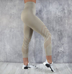 RapidWear - 7/8 Detailed Seamless Leggings (Nude)