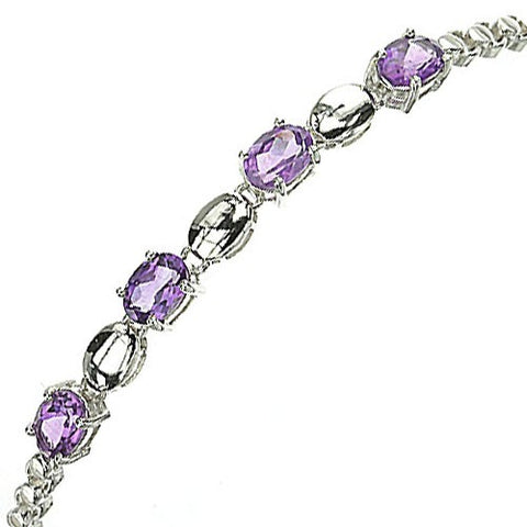 Gemstone and Silver Oval Bracelet - gecko-jewellers-mapatiza-mine