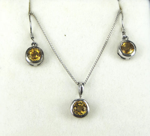 Round Earring and Pendant Set - gecko-jewellers-mapatiza-mine