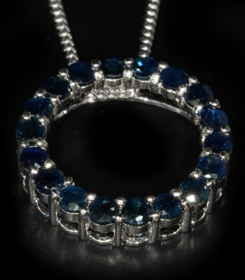 Sapphire Circle of Life Pendants - gecko-jewellers-mapatiza-mine