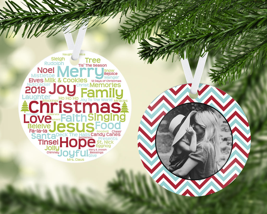 Christmas Words Ornament - PNG