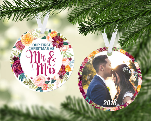 Our First Christmas as Mrs & Mrs Ornament - PNG