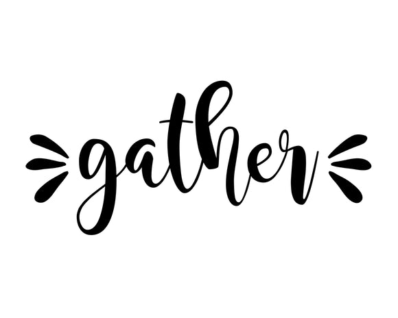 Gather - SVG, PNG, DXF