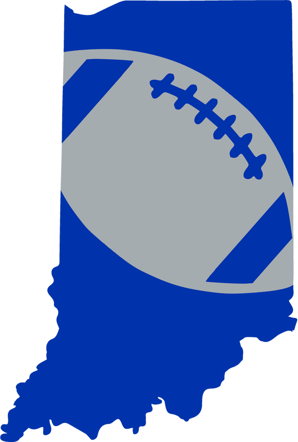 Indianapolis Football Design (NFL Colors) - PNG