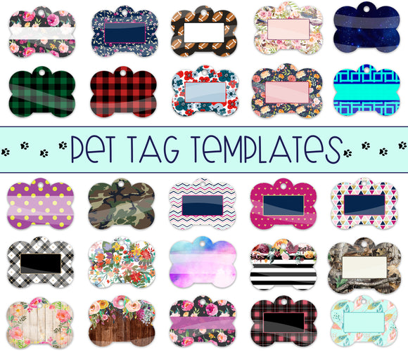 Pet Tag Digital Templates for Sublimation