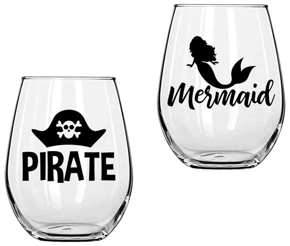 Pirate & Mermaid - SVG, PNG, DXF