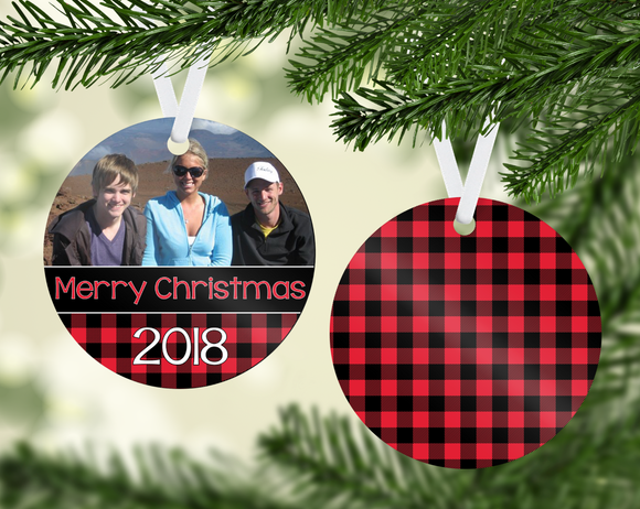 Buffalo Plaid Ornament - PNG
