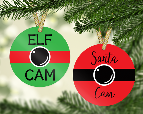 Santa and Elf Cam - PNG & JPG