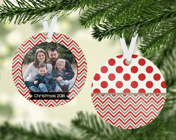 Chevron Christmas Ornament - PNG