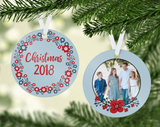 Red & Blue Christmas Ornament - PNG