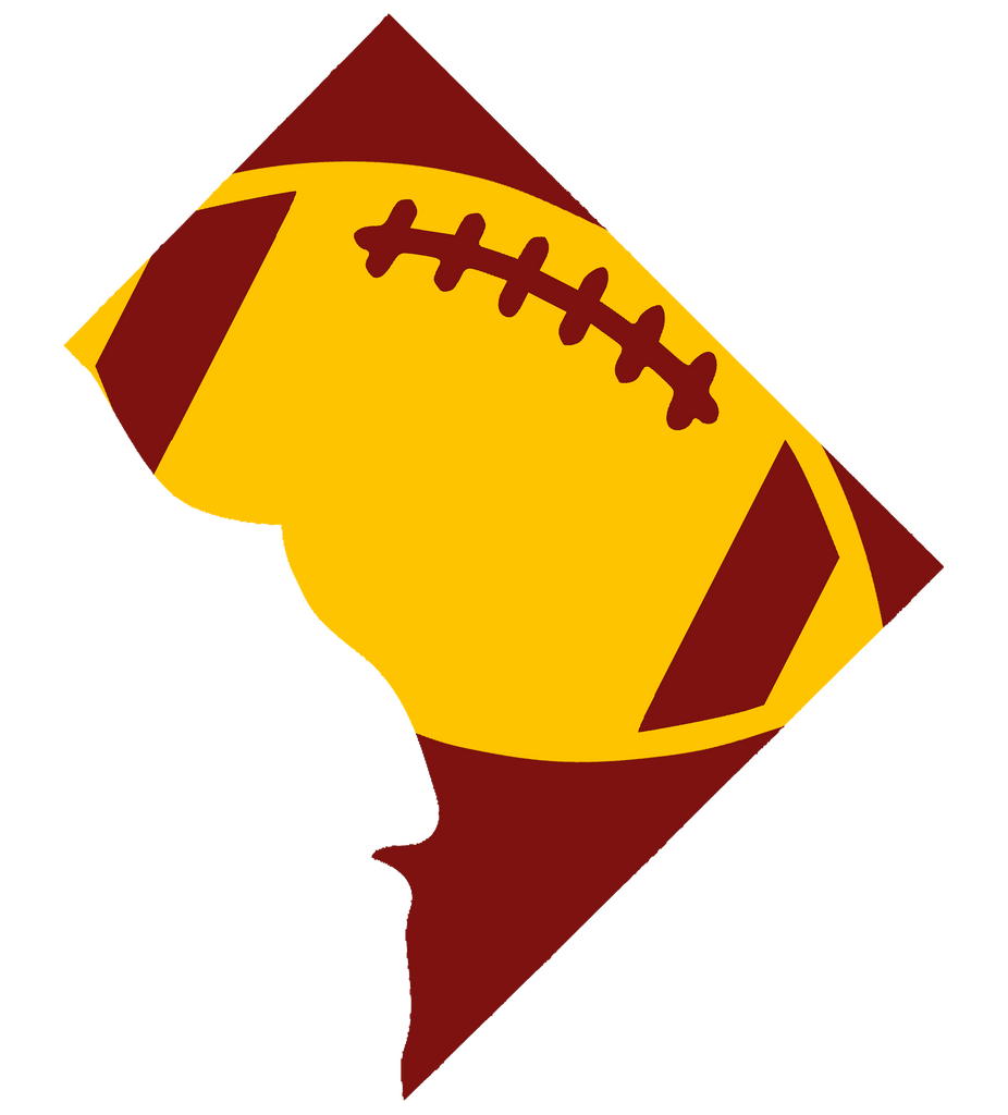 Washington DC Football Design (NFL Colors) - PNG