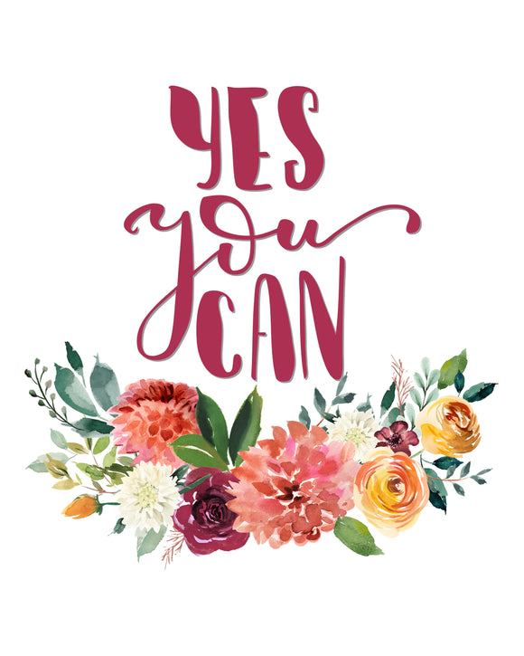 Yes You Can - PNG, JPEG