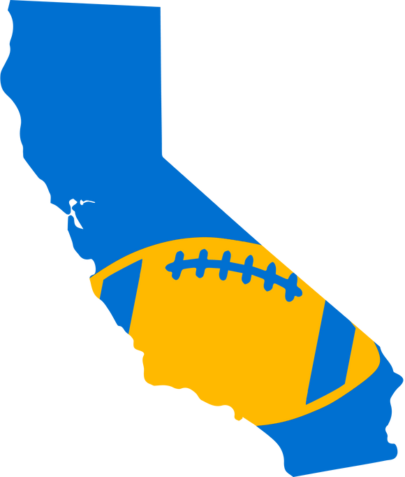 Los Angeles Football Design (NFL Colors) - PNG