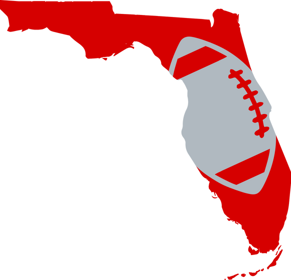 Tampa Bay Football Design (NFL Colors) - PNG
