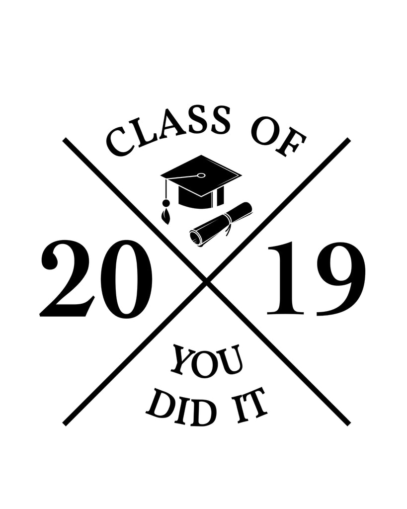 Graduation 2019- SVG, PNG, DXF