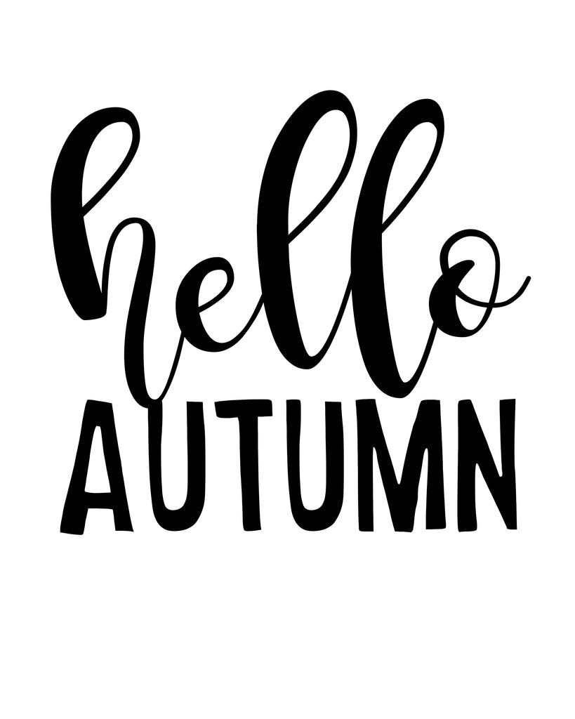 Hello Autumn - SVG, PNG, DXF
